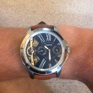 Men's Fossil Watch Genuine Leather w/ Box